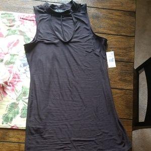 Black NWT knee length summer dress size L